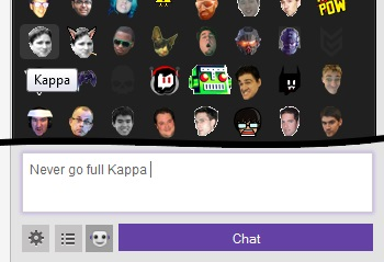 features click to use emote menu for twitch