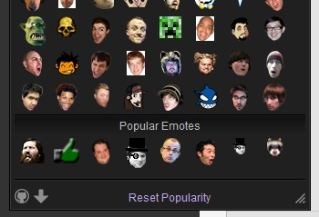 features popular emotes emote menu for twitch