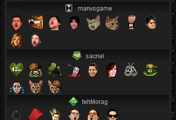 Emote Menu for Twitch